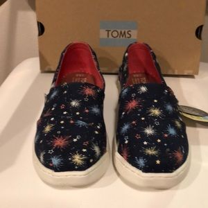 TOMS fireworks navy canvas